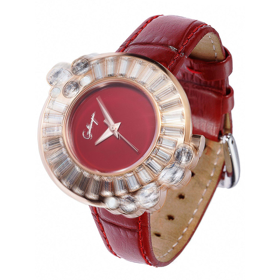 スワロフスキーがキラキラ回るクルクル時計